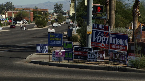 """Political Sign Season"" in southern Arizona and its impact on local sign companies."