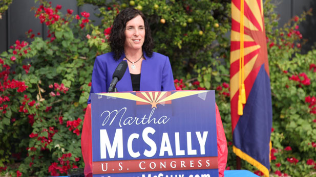 Republican Martha McSally concedes the Congressional District 2 race to Democrat Ron Barber, Nov. 17. 2012.