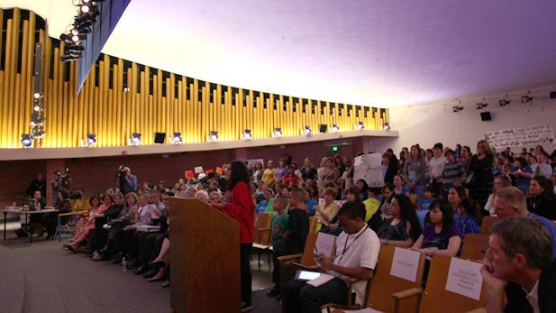 TUSD crowd spotlight