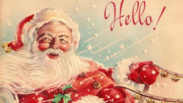santa holiday card spotlight