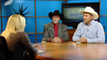 Tucson Rodeo Committee Chairman, Bill Schurg (left), and Rodeo Cowboy, Joe Parsons (right), discuss the upcoming 2012 rodeo.