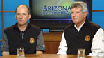 Organizers known as the Tucson Conqistadores Rocco Bene (left) and Dan Meyers (right) talk about how they organized this years Accenture Match Play golf tournament coming in Marana and how it draws professionals from around the world and provides a welcome economic boost to Southern Arizona.