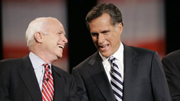 Arizona Sen. John McCain endorsed Mitt Romney early and has campaigned for him nationally.