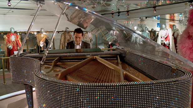 Michael Feinstein plays one of Liberace's rhinestone-encrusted pianos at the now closed Liberace Museum in Las Vegas.