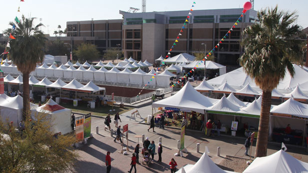 Tents at Tucson Festival of Books, 2012