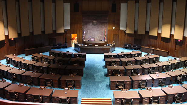 The Arizona House of Representatives chamber.