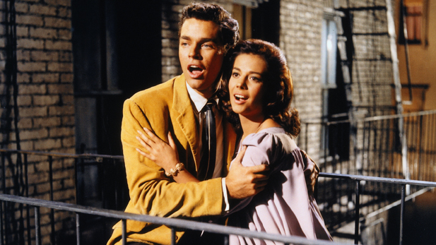 Richard Beymer and Natalie Wood star in West Side Story.