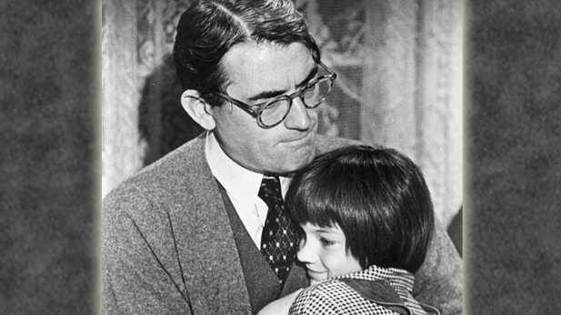 Gregory Peck and Mary Badham in To Kill a Mockingbird (1962), directed by Robert Mulligan.