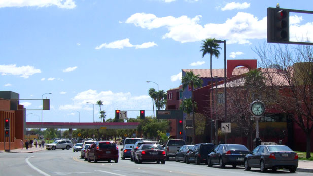 Traffic in downtown Tucson.