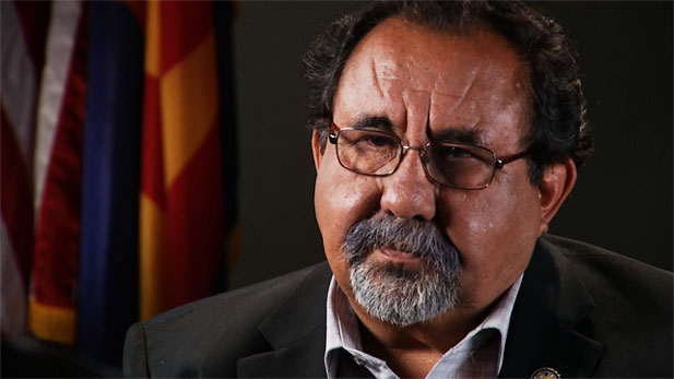 Congressman Raúl Grijalva discussing his opinions and stance on SB 1070.