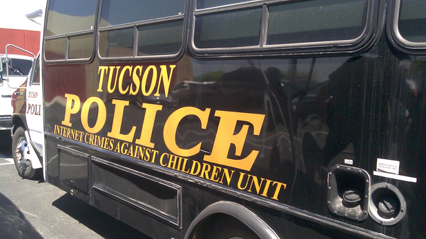 A vehicle from the Tucson Police Department's unit to investigate Internet Crimes Against Children.