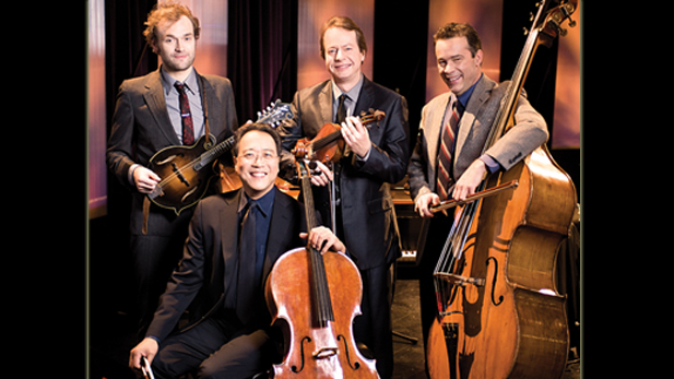 The Goat Rodeo musicians (l-r) Chris Thile, Yo-Yo Ma, Stuart Duncan and Edgar Meyer.