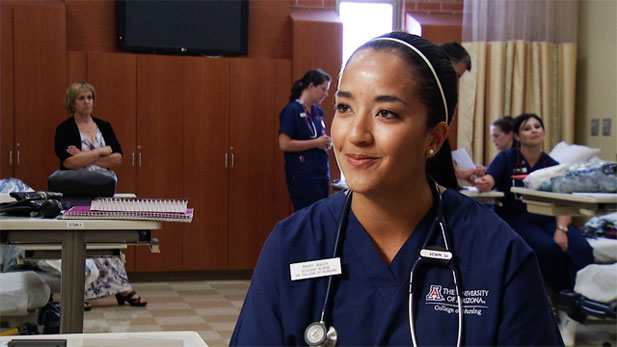 Mary Wach, a student at the UA College of Nursing is entering a field where there is a definite shortage.