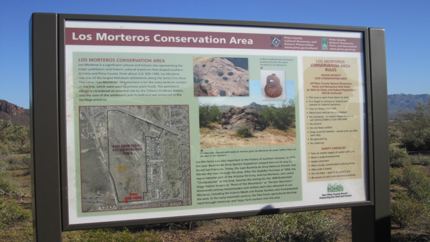 los morteros sign spotlight