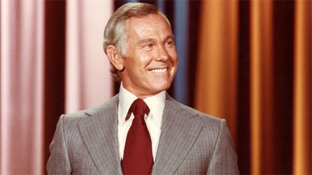 "Johnny Carson on ""The Tonight Show"" set."