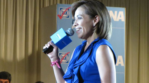 Josefina Vazquez Mota, candidate of Mexico's National Action Party, speaking in Ciudad Juárez recently.