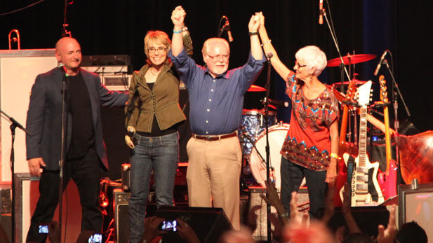 Ron Barber Gabrielle Giffords election concert spotlight