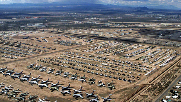 "The AMARC facility, or ""Bone Yard"" keeps a careful inventory of more than 4,000 aircraft stored on its 25-acres."