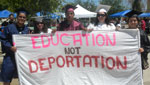 DREAM students supporting education over deportation.
