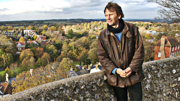 Michael Wood atop Lewes Castle