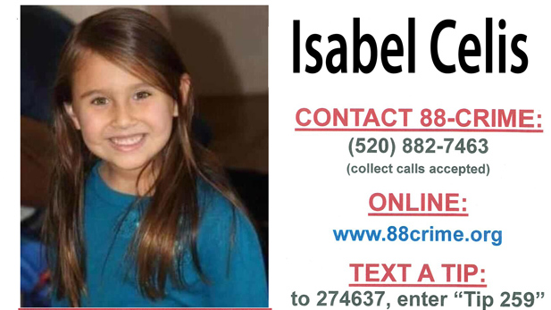 "Part of a ""missing girl"" poster for Isabel Celis from 88-CRIME."
