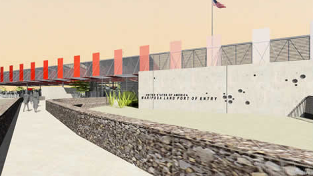 Conceptual drawing of the new Mariposa Port of Entry under construction in Nogales.