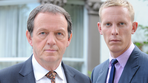 Kevin Whately and DI Lewis and Laurence Fox as DS Hathaway