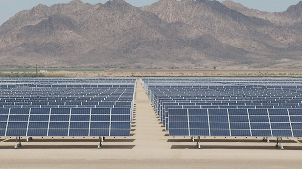 Solar panels APS Gila Bend spotlight