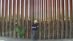 Program Coordinator of the Sierra Club Borderlands Dan Millis speaks on the concern of environmental organizations about walls and other construction along the US-Mexico border that are creating carries for wildlife.