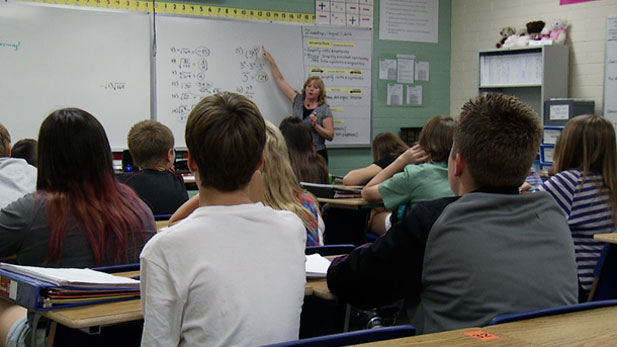 A classroom in the Vail School District in suburban Tucson.