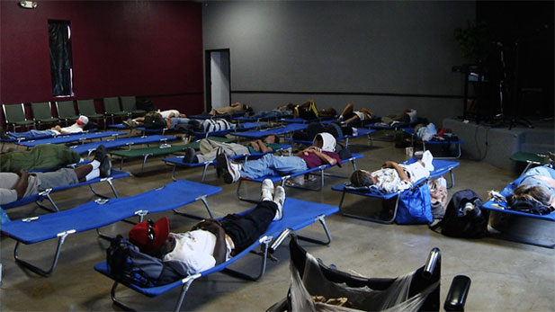 The St. Francis Cooling Center offers some temporary relief for Tucson's homeless population from the summer's extreme weather.