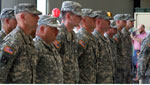 9/12/12. Rebecca Brukman. Members of the National Guard stand in a line as they await departure.