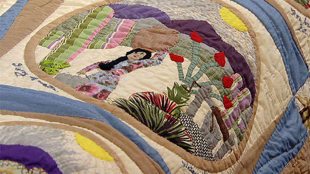 We spoke with representatives from the Arizona State Museum to discuss and view some of the quilts made by artists of the Hopi Nation.