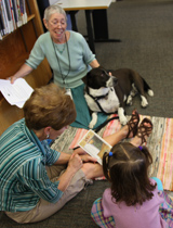 librarian read2dog portrait
