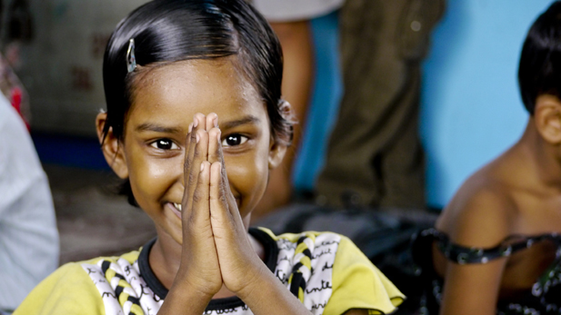 Girl at New Light Crèche in Kolkata, India.