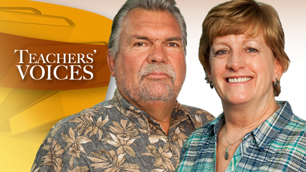 Newly retired Arizona teachers Bob and Sue Reavis