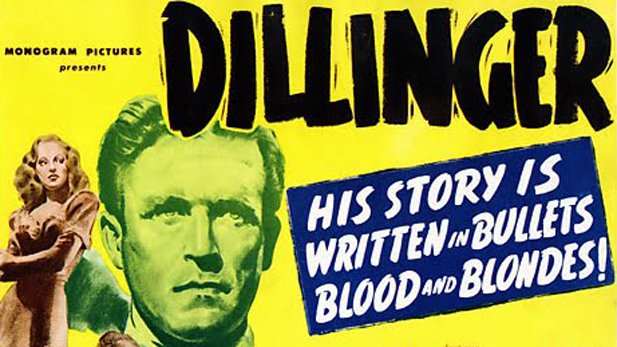The first Hollywood film about bank robber John Dillinger was made in 1945 and starred Lawrence Tierney