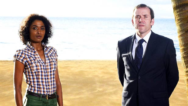 Death in Paradise's  Detective Sergeant Camille Bordey and Detective Inspector Richard Poole!
