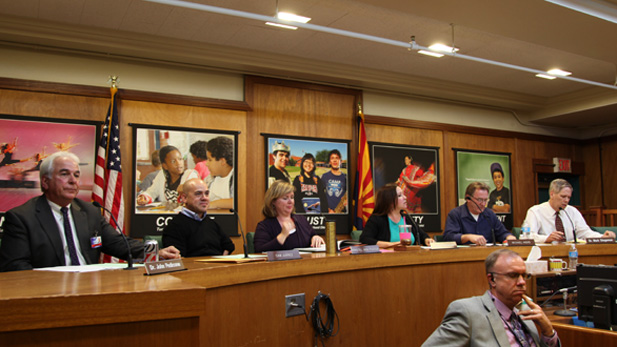 Tucson Unified School District's governing board. (2013)