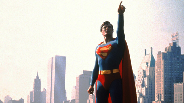 Christopher Reeve in Superman: The Movie, 1978.
