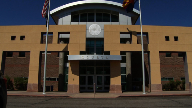 The entrance to the Pima County Juvenile Courts.
