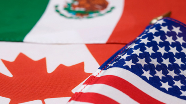 North American flags spot NAFTA