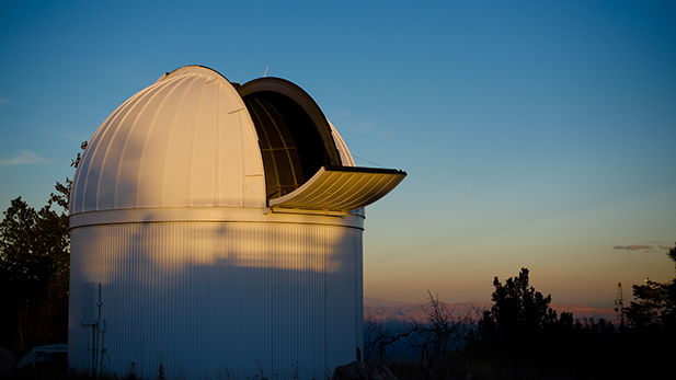 The dome of a telescope at the UA Sky Center campus on Mount Lemmon.