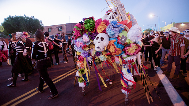 40,000 took part in the annual All Souls Procession in downtown Tucson.
