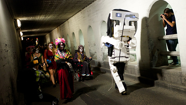 allsouls skeleton robot spotlight
