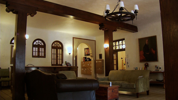 Inside the main lobby of the Historic YWCA building in Tucson.