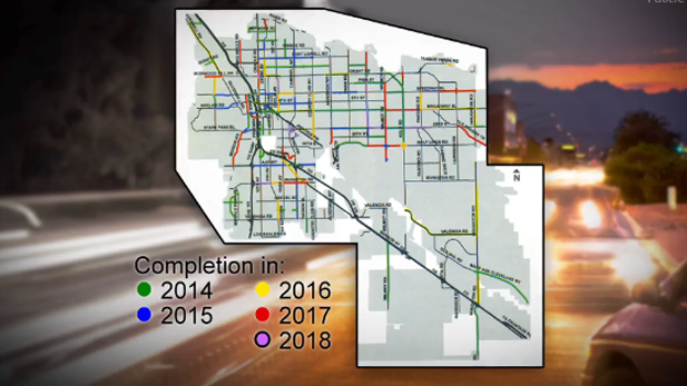 Plan for Tucson road repairs under $100 million bond issue.