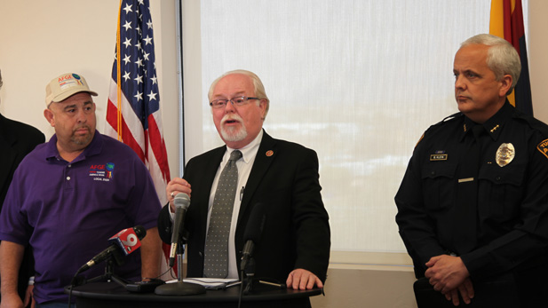 U.S. Rep. Ron Barber, D-Tucson, discusses looming federal budget cuts associated with sequestration set to start March 1, 2013.