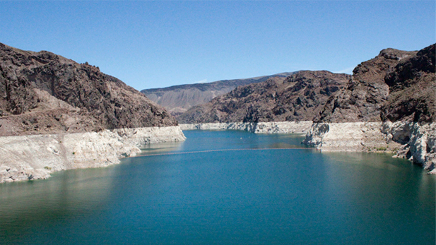 Water levels at the Colorado River basin.