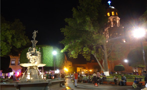 queretaro night plaza focus large